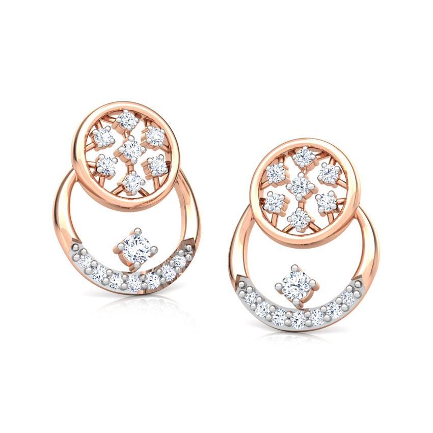 Overlay Cluster Stud Earrings