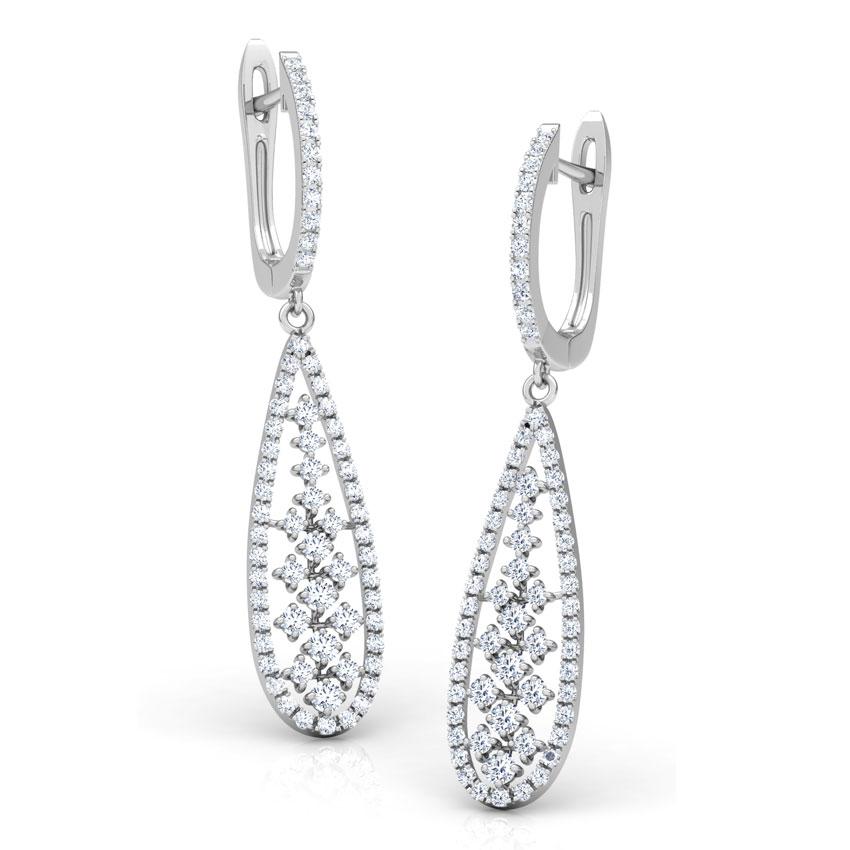 Pear Lattice Drop Earrings