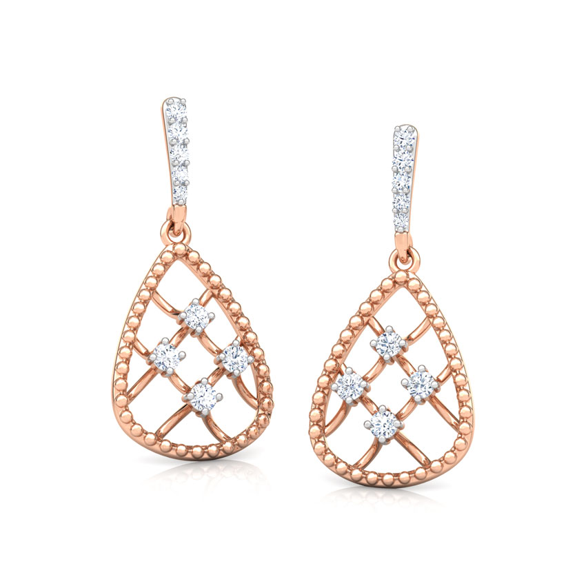 Trigon Miligrain Drop Earrings