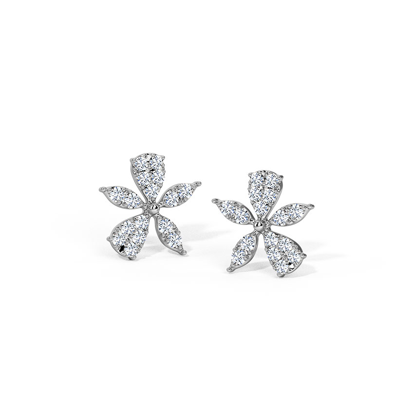 Asymmetric Bloom Stud Earrings