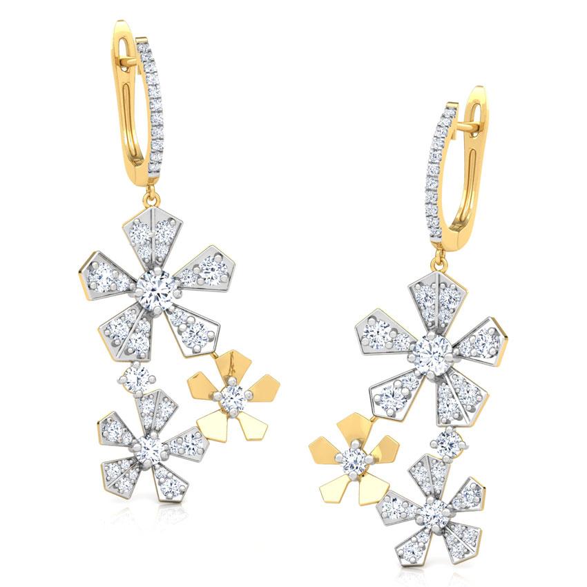 Bloom Cluster Drop Earrings