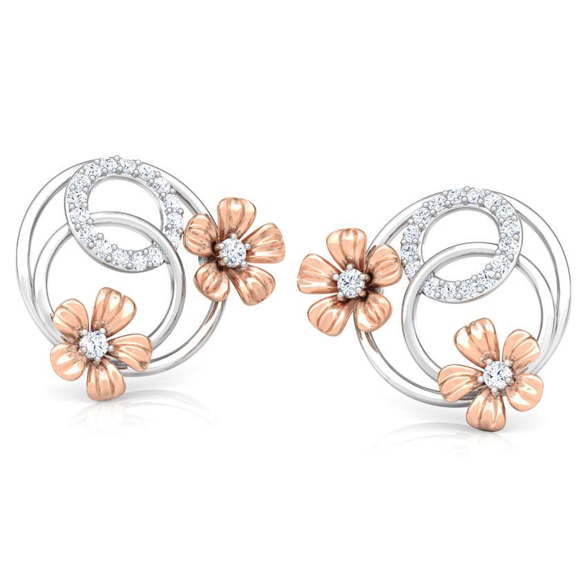 Overlay Blossom Stud Earrings