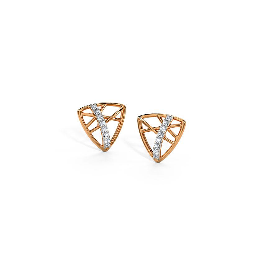 Trigonal Stud Earrings