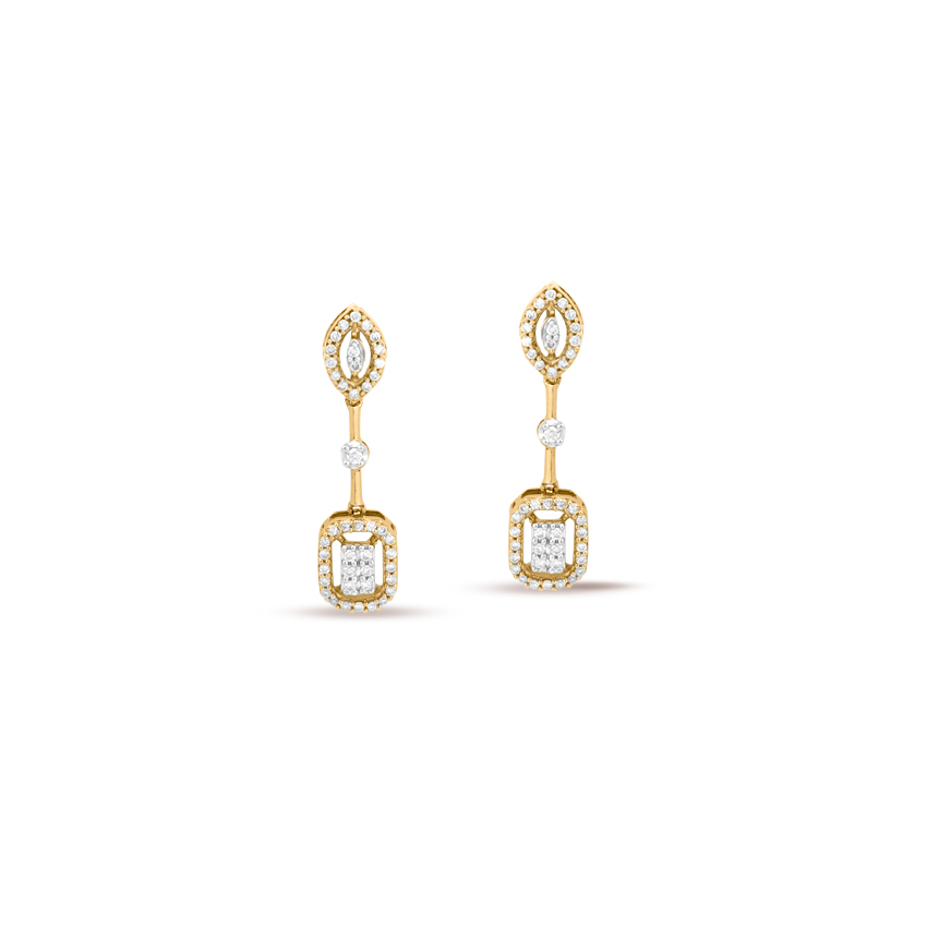Blingy Cluster Drop Earrings
