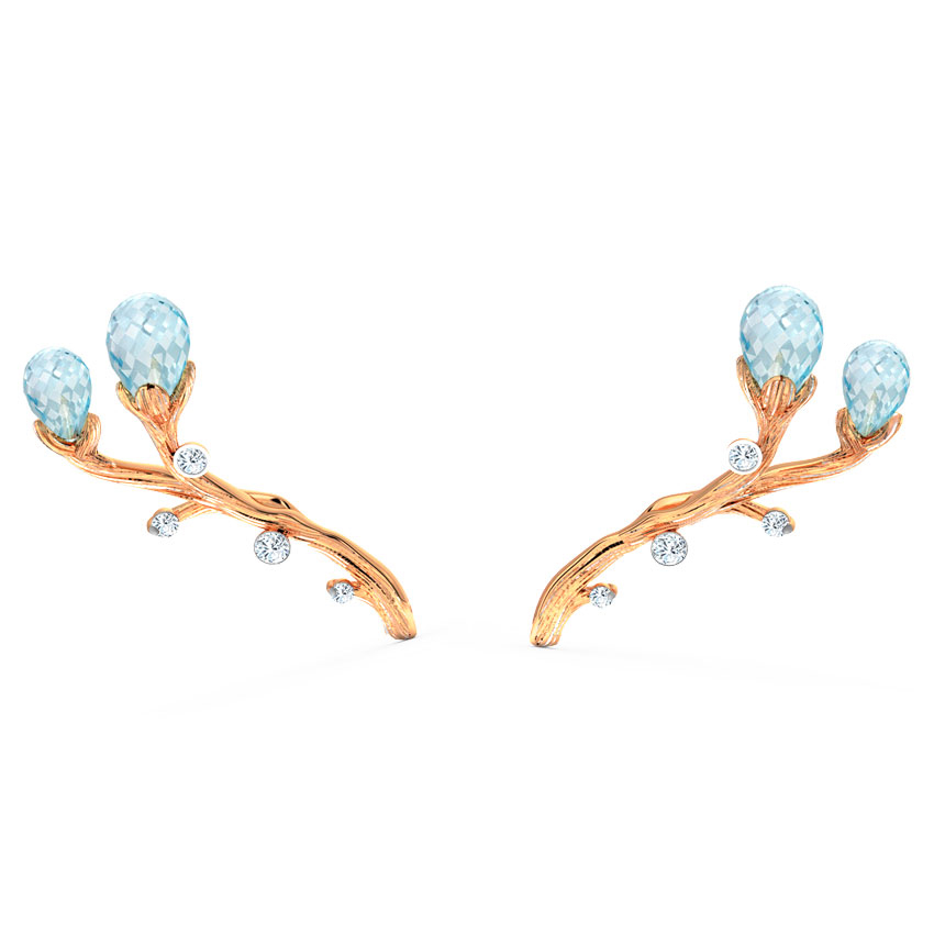 Sprig Dewdrops Stud Earrings