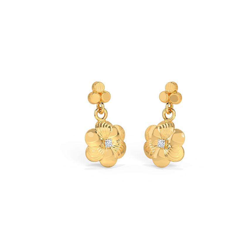Gold Crush Drop Earrings