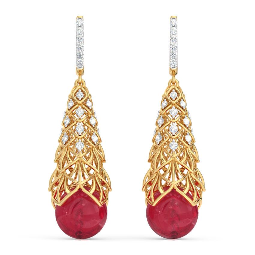 Crasas Fractal Drop Earrings