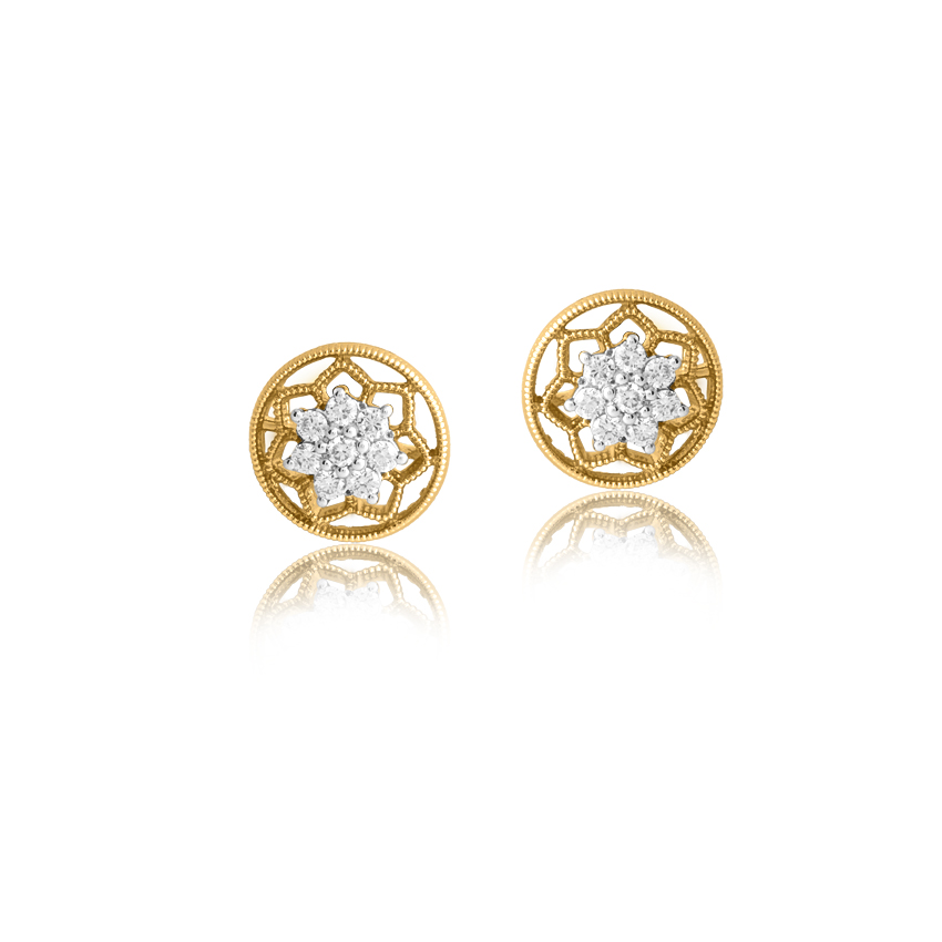 Sunshine Glitter Stud Earrings