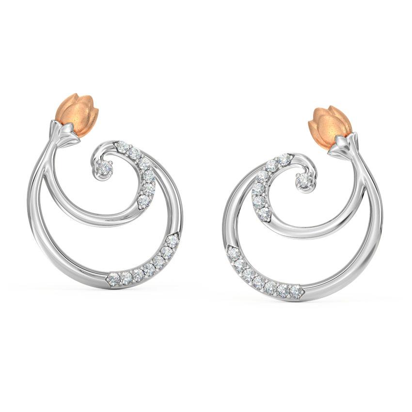 Swirl Tulip Stud Earrings