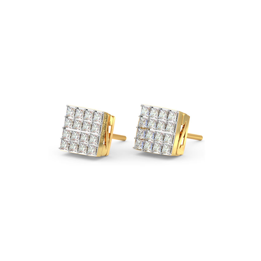 Minimalistic Quad Stud Earrings