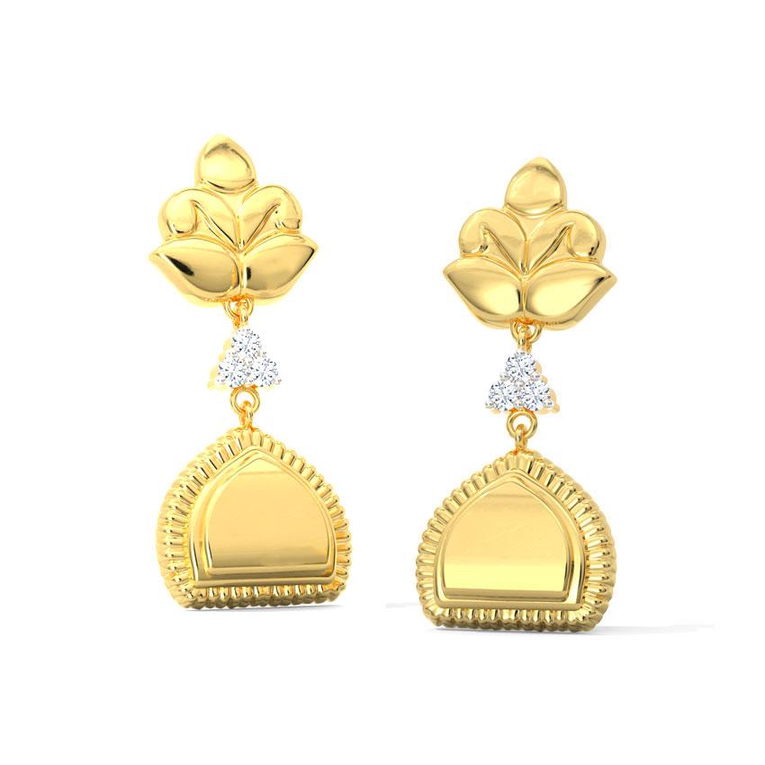 Gitali Floral Drop Earrings