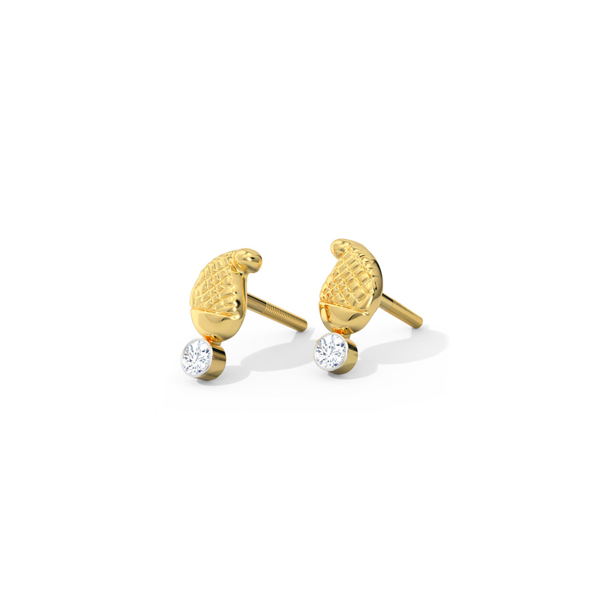 Inaya Paisley Stud Earrings