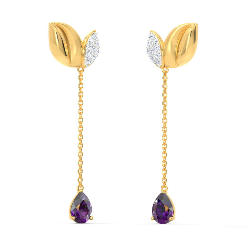 Intricate Leaflet Drop Earrings