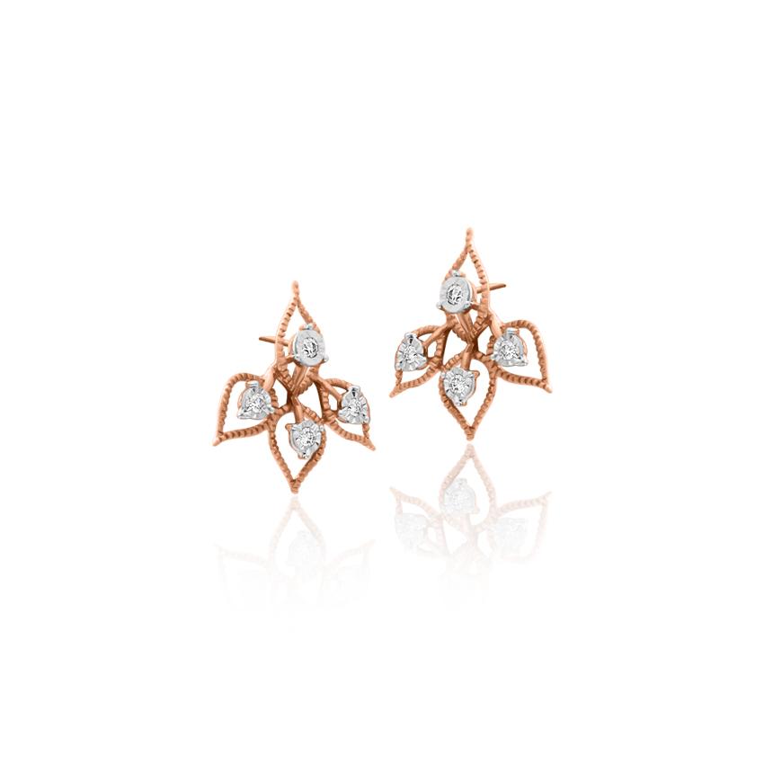 Diamond Earrings 18 Karat Rose Gold Lily Glorious Diamond Drop Earrings