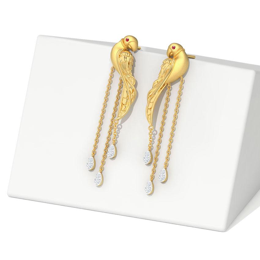 Exquisite Parrot Drop Earrings