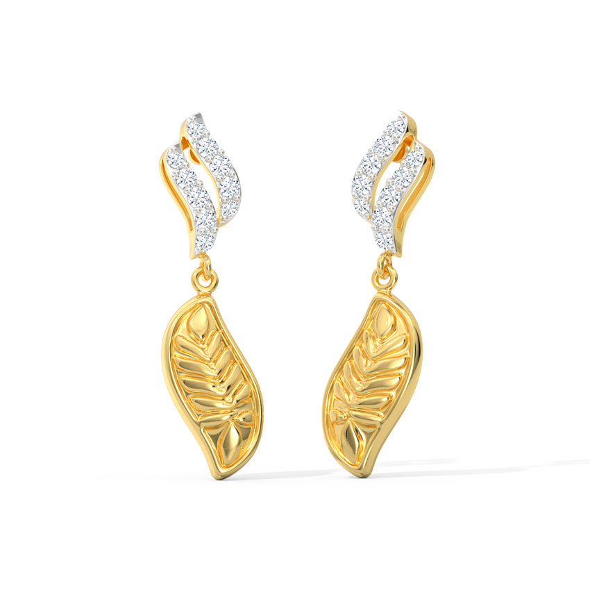 Akshara Leaf Drop Earrings