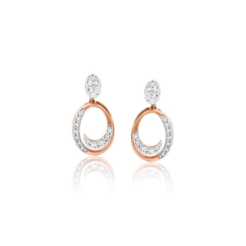 Diamond Earrings 18 Karat Rose Gold Anna Beautiful Diamond Drop Earrings