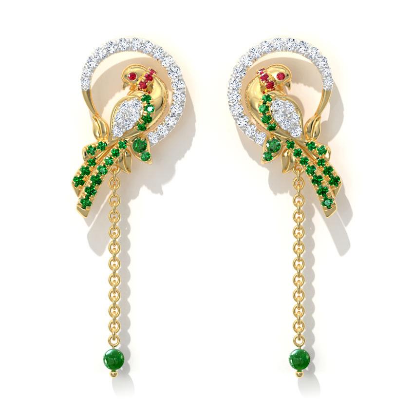 Grandiose Parrot Drop Earrings