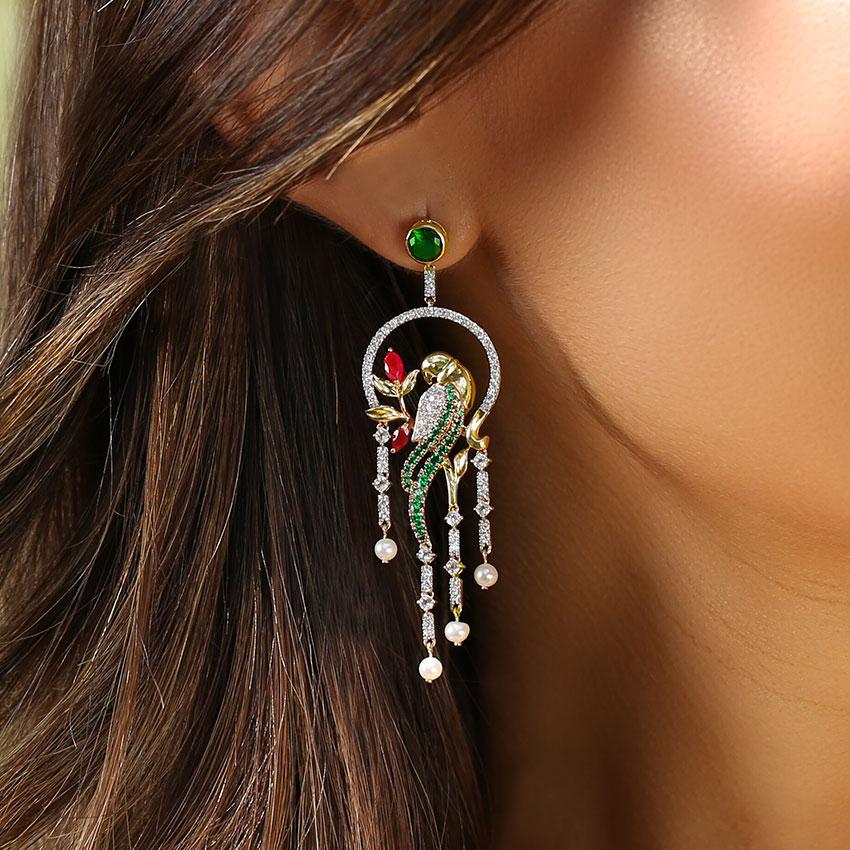 Enchanting Parrot Drop Earrings