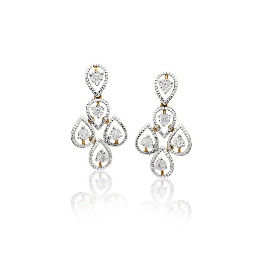 Diamond Earrings 18 Karat Yellow Gold Sophie Remarkable Diamond Drop Earrings
