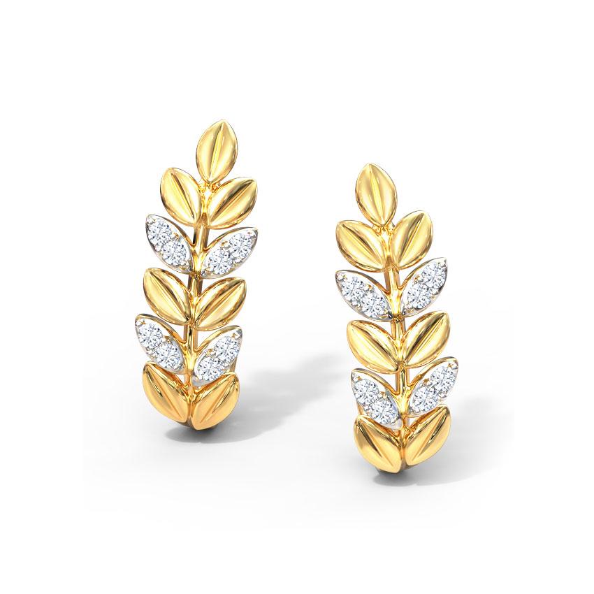 Sway Fern Stud Earrings