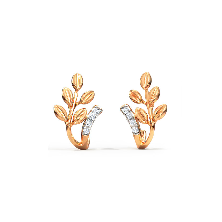 Arched Fern Stud Earrings