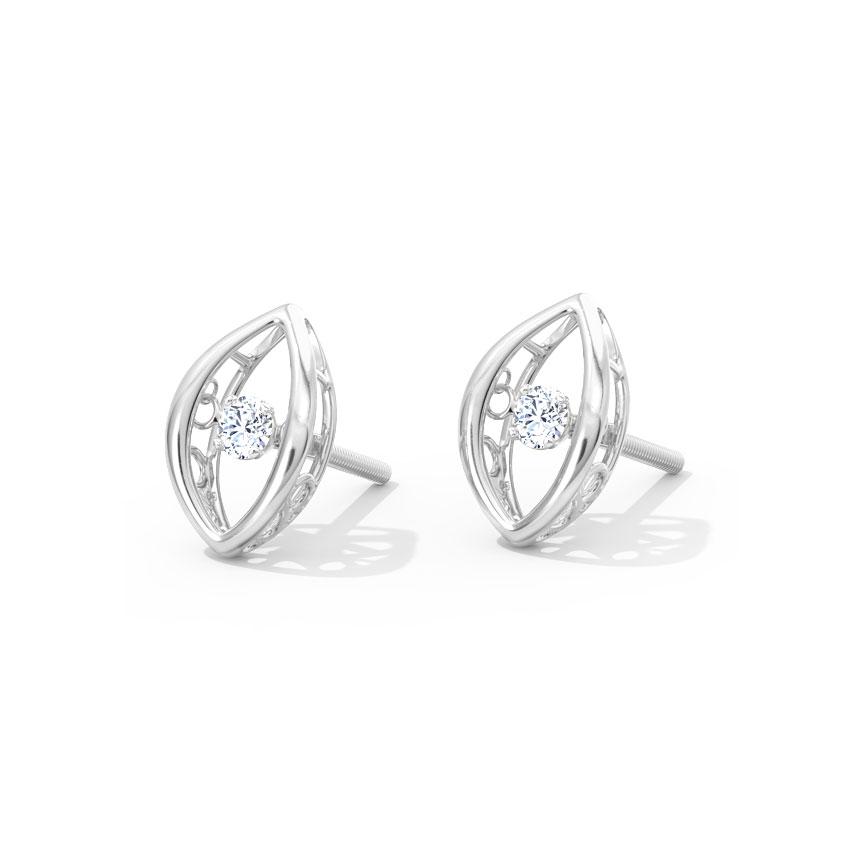 Isadora Heartbeat Diamond Stud Earrings