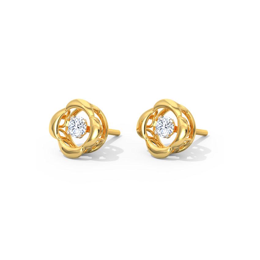 Marie Heartbeat Diamond Stud Earrings