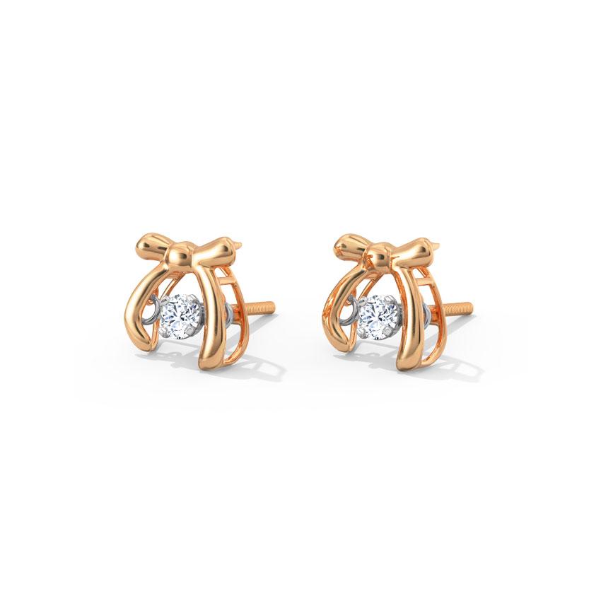 Anna Heartbeat Diamond Stud Earrings