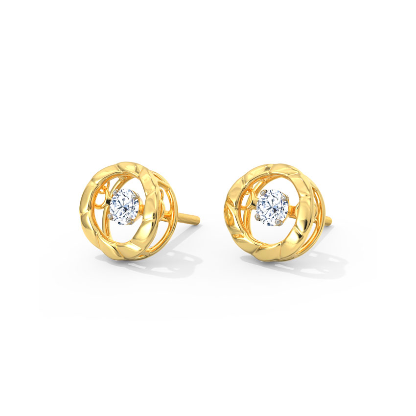Margot Heartbeat Diamond Stud Earrings