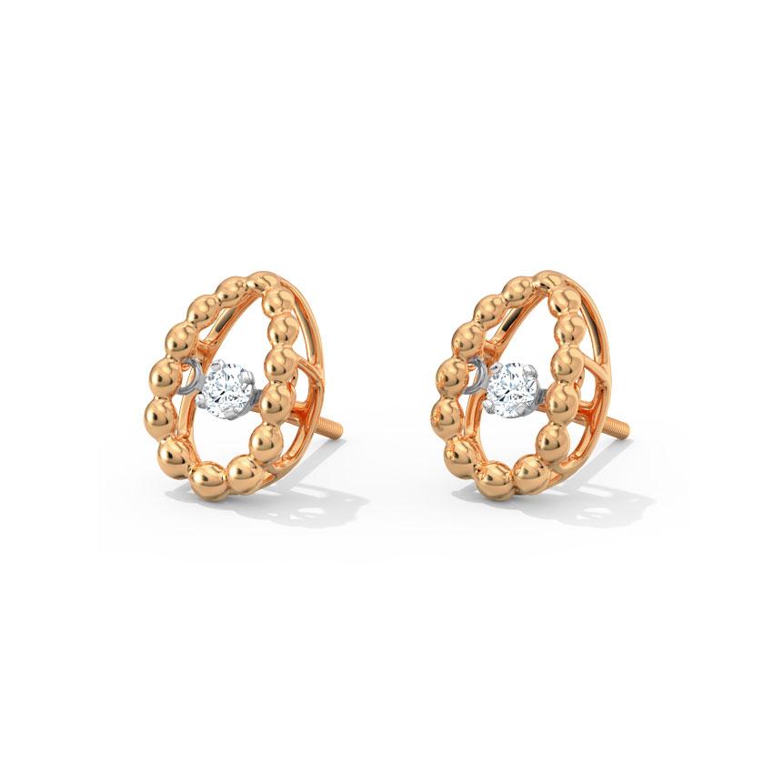 Josephine Heartbeat Diamond Stud Earrings