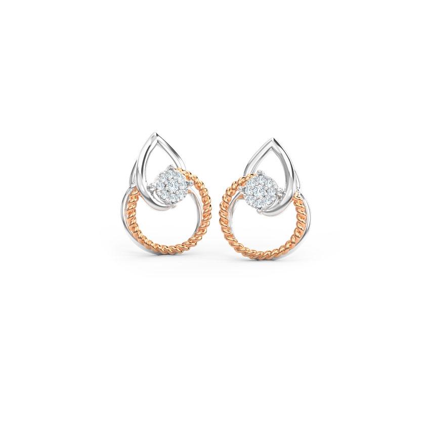 Twirl Cluster Stud Earrings