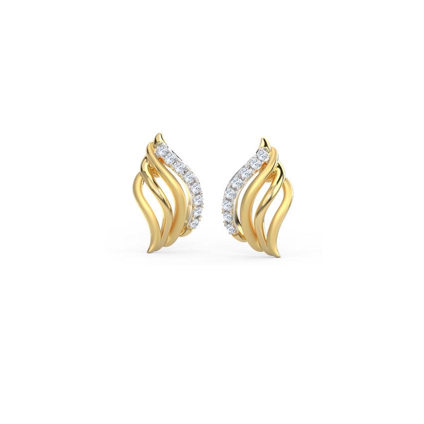 Sway Wave Stud Earrings