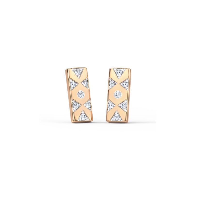 Linear Geometric Stud Earrings