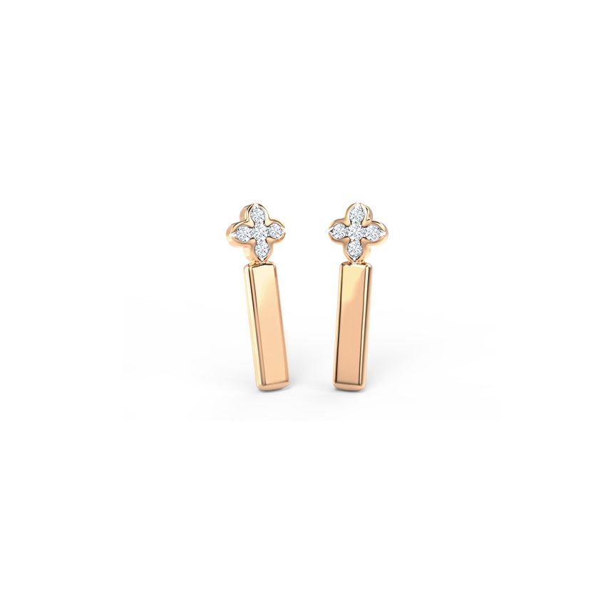 Floret Linear Drop Earrings