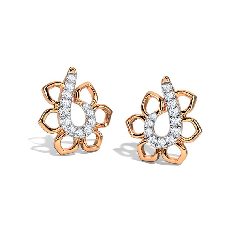 Kanzashi Bloom Stud Earrings