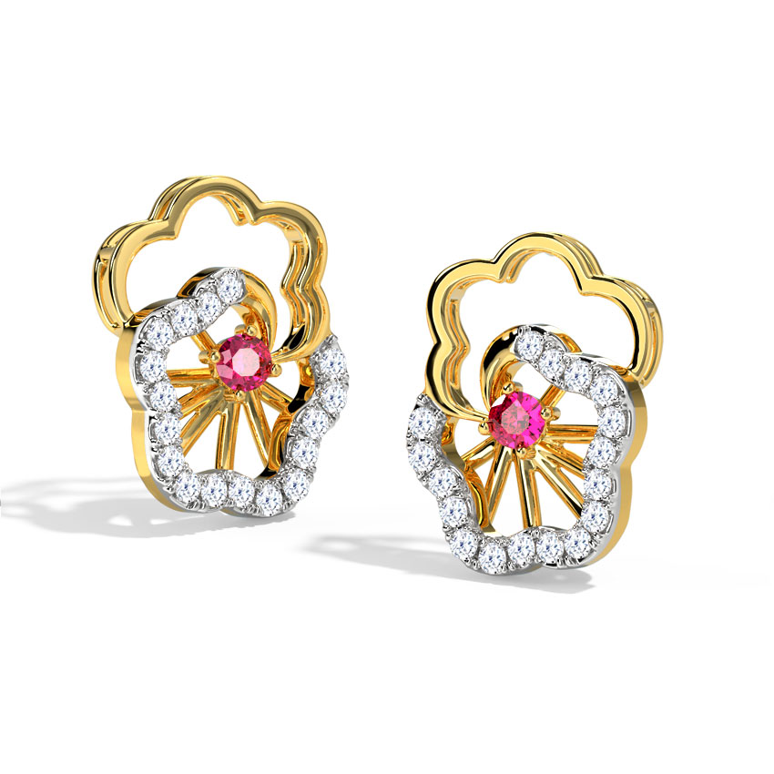 Pansy Floret Stud Earrings
