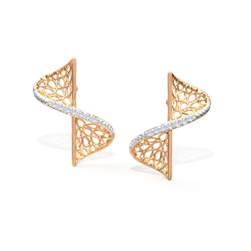 Swerve Twist Stud Earrings