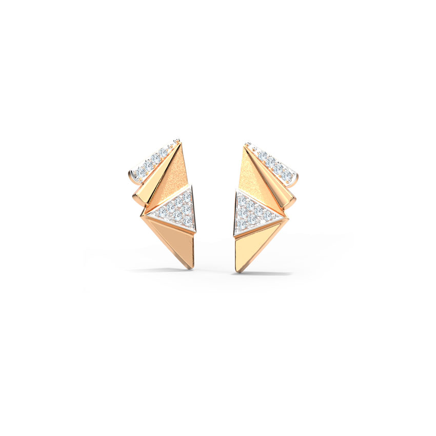 Edgy Trigon Stud Earrings