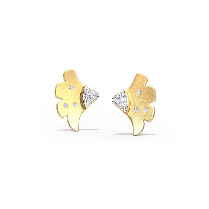 Sway Arch Stud Earrings