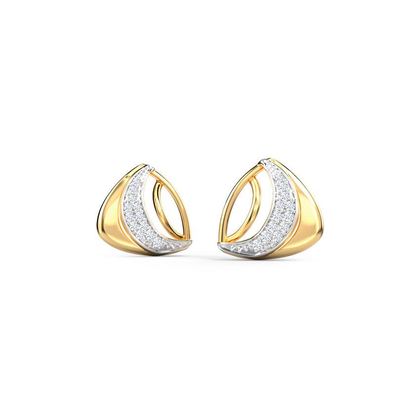 Curvy Trigon Stud Earrings