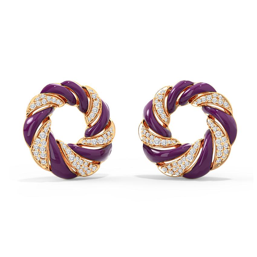 Diamond Earrings 14 Karat Rose Gold Lumina Diamond Stud Earrings