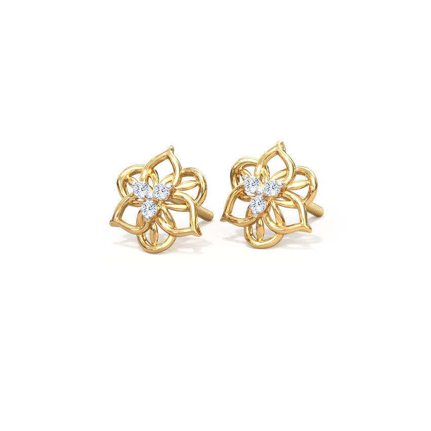 Ornate Bloom Stud Earrings