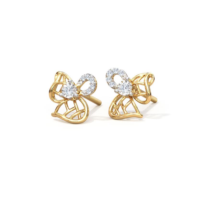 Lattice Bloom Stud Earrings
