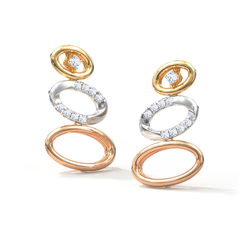 Audrey Oval Drop Earrings