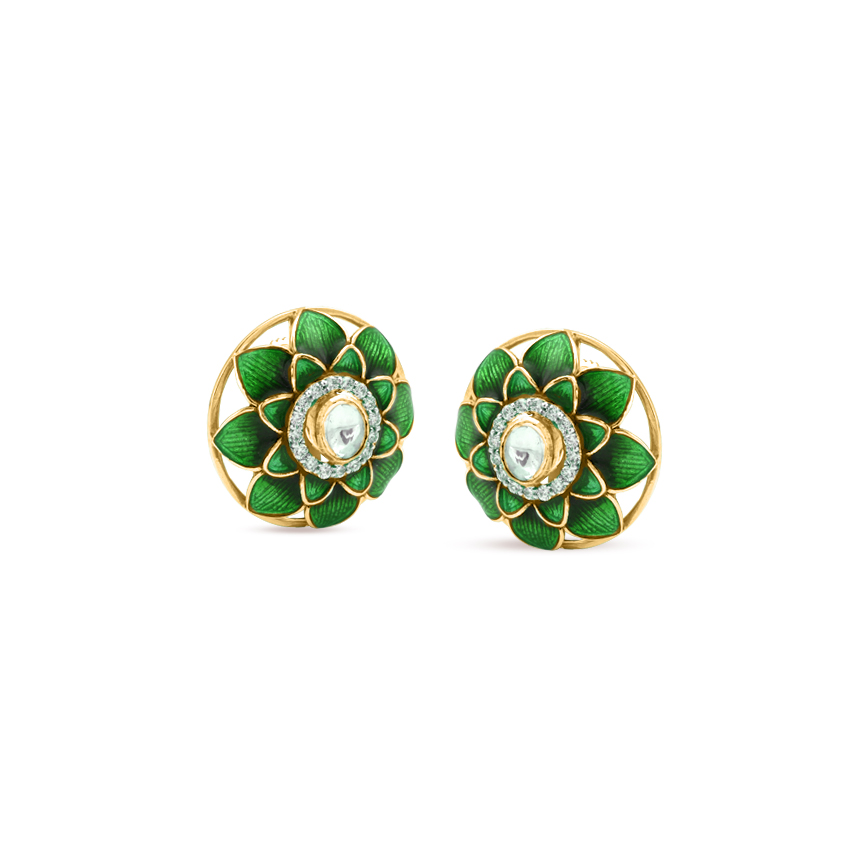 Blooming Verdant Stud Earrings