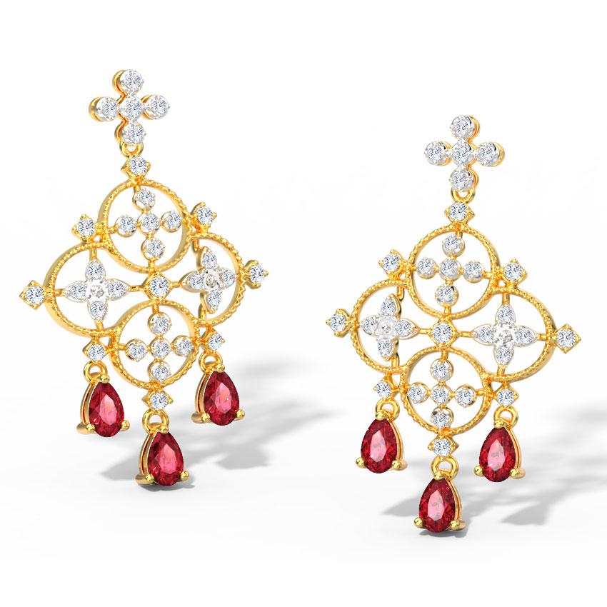 Azara Scarlet Drop Earrings