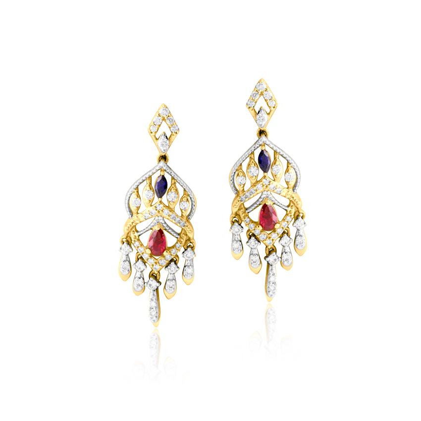 Imperial Diamond Drop Earrings