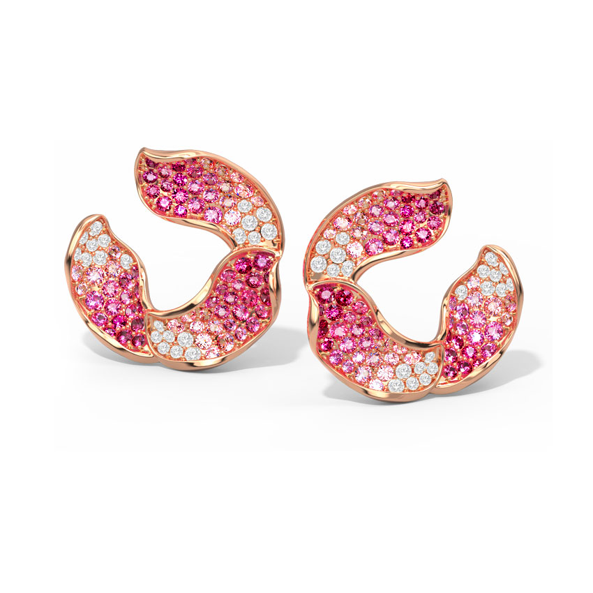 Lily Sparkle Hoop Earrings