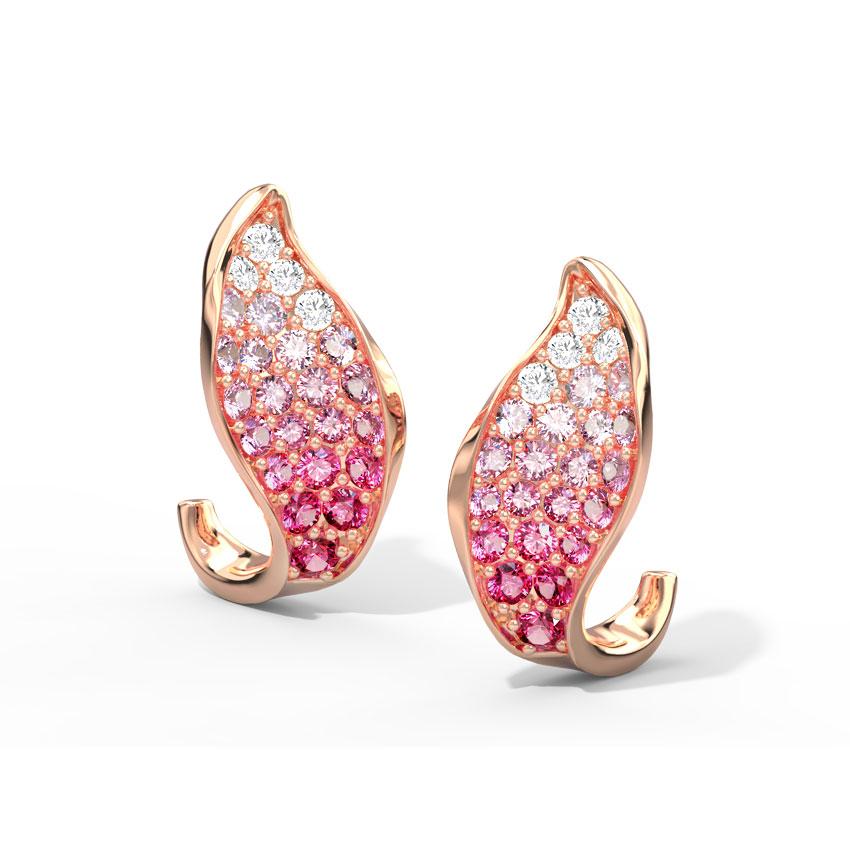 Calla Bloom Hoop Earrings